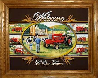 Farmall Welcome Plaque