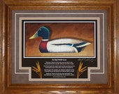 Mallard Framed Decoy Art Print with poem, quot To Dad With Love quot , finished in handsome oak frame ready to hang in home or office