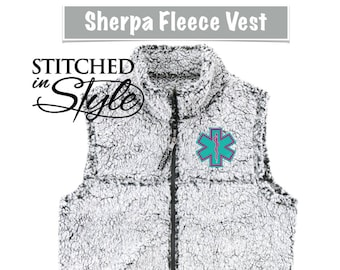 Sherpa Vest Embroidery Designs Available