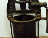 1883 Pattent Antique ENTERPRISE Mfg Co PA, Cast Iron Sausage Press Stuffer Fruit Press 19th century FREE Shipping
