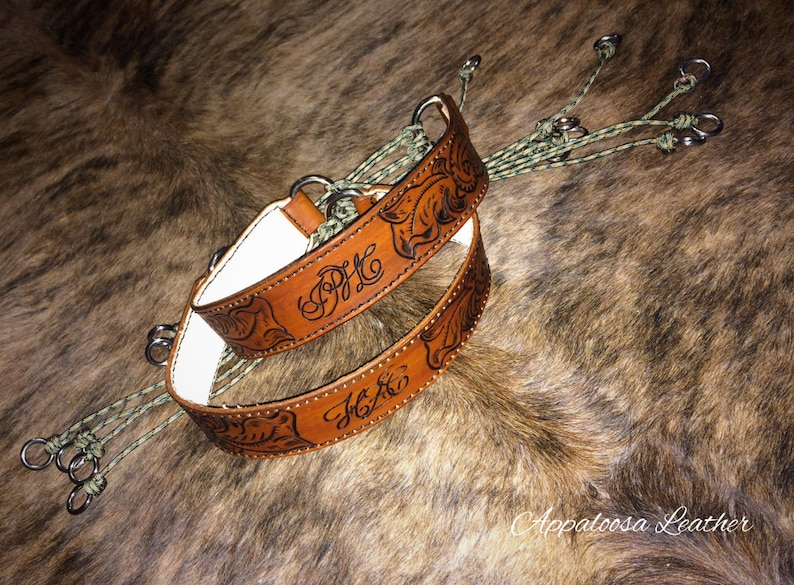 Floral Custom Leather Paracord Game Strap Custom Leather Etsy