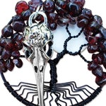 Morrigan Tree of Life Pendant Wire Wrap Tree of Life Goddess Necklace