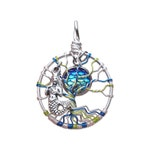 Blue Mermaid Mini Tree of Life Pendant