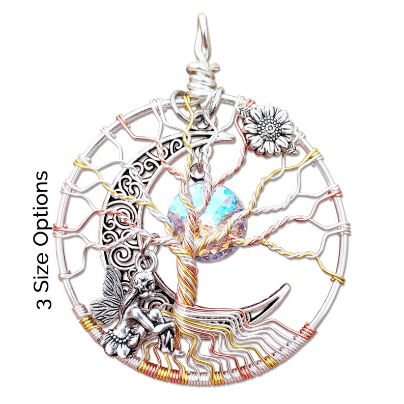 Fairy Mother Daughter Tree of Life Pendant / Mother Daughter image 0