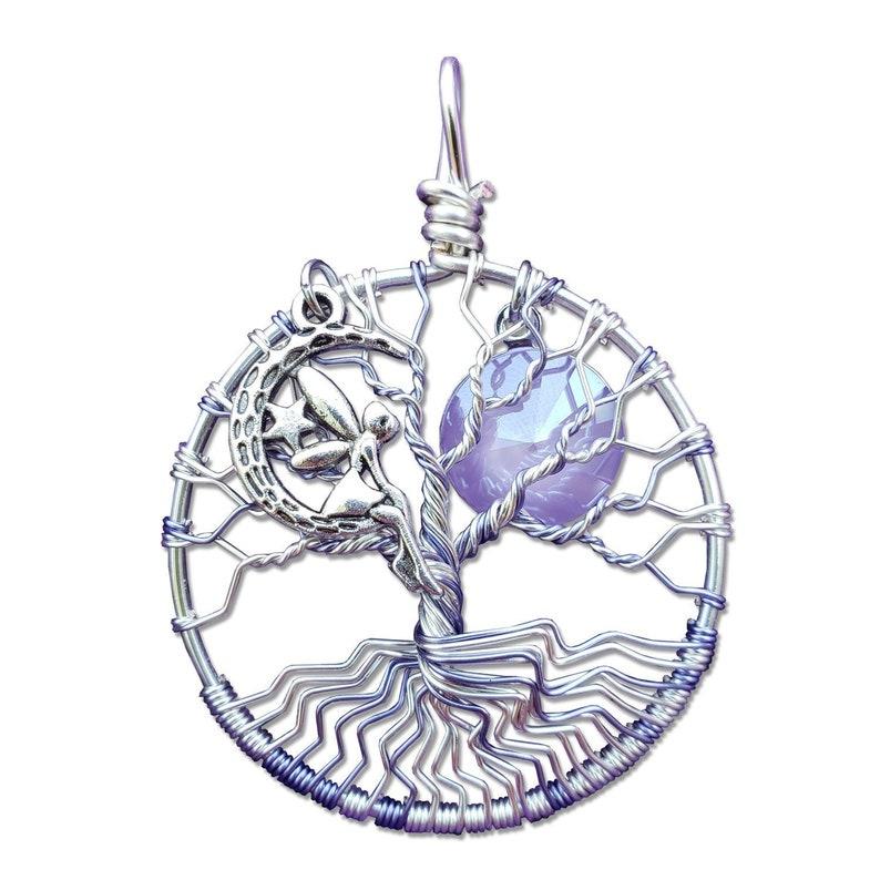Purple Fairy Tree of Life Pendant / Junior Tree of Life image 0