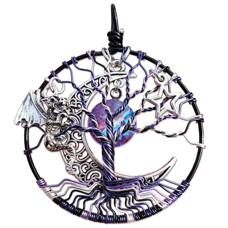 Nox Dragon Tree of Life Pendant / Tree of Life Jewelry / image 0