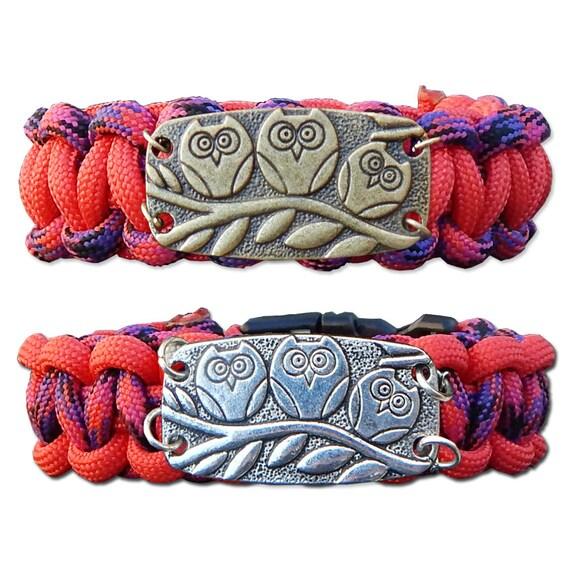 Candy Snake Owl Paracord Bracelet, Survival Bracelet, Rope Bracelet