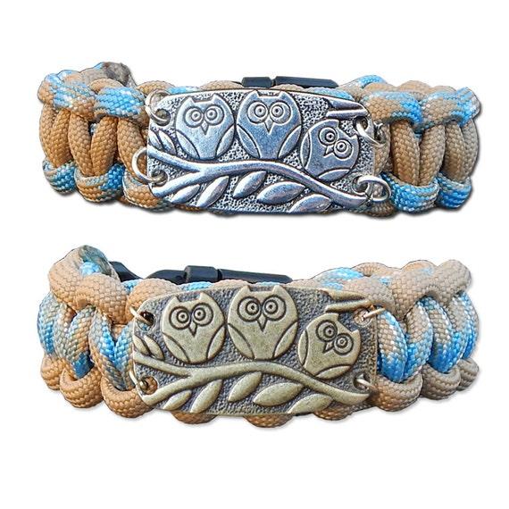 Owl Paracord Bracelet, Survival Bracelet, Rope Bracelet