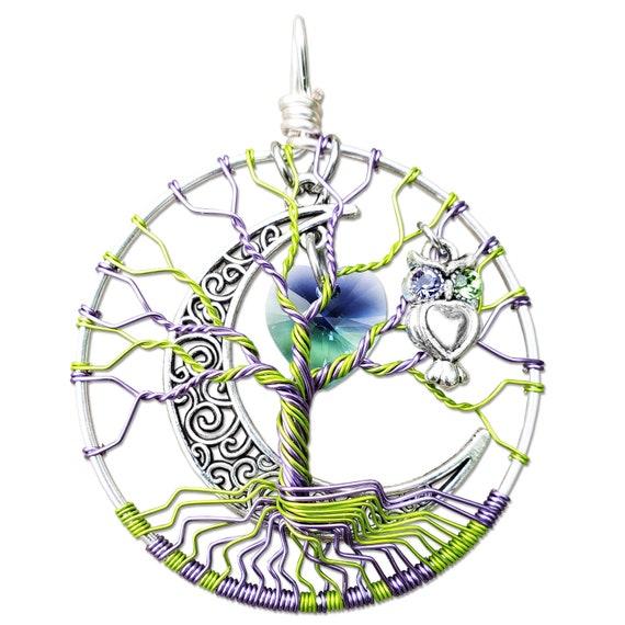 Swarovski Crystal Heart Tree of Life Pendant