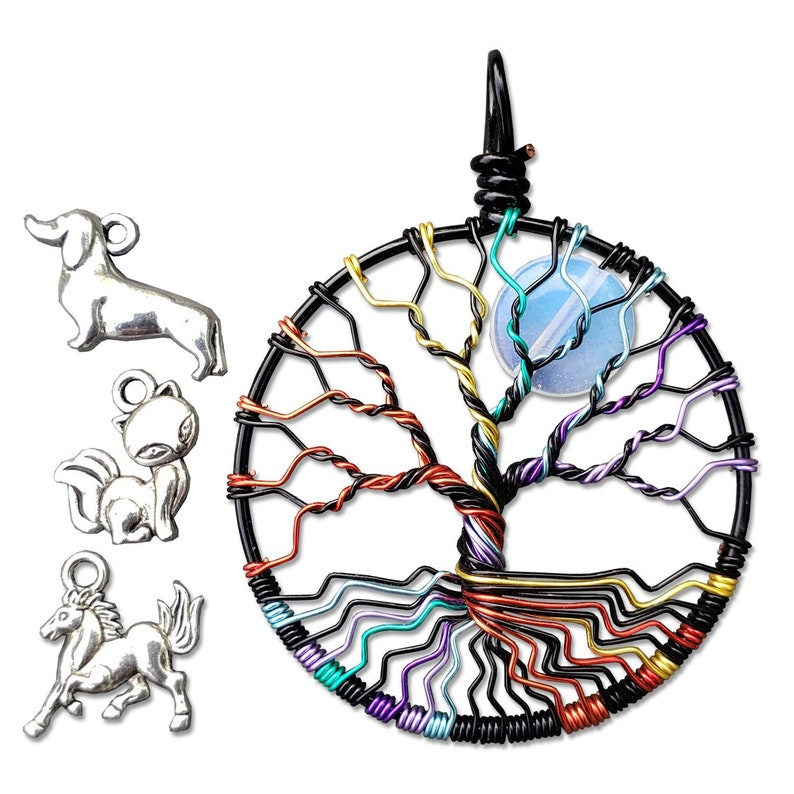 Pet Remembrance Necklace Tree of Life Pendant image 0