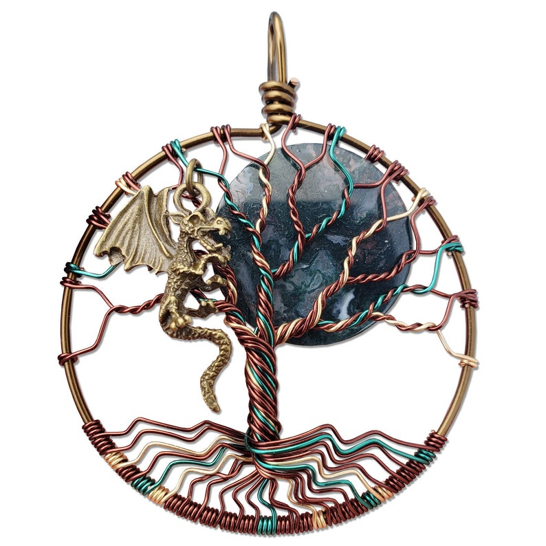 Earth Dragon Tree of Life Pendant / Tree of Life Jewelry / image 0