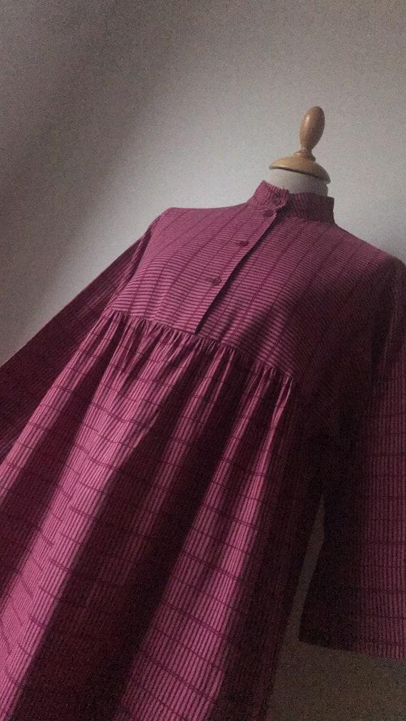 Vintage Marimekko Smock Midi Dress / Stripes / Che