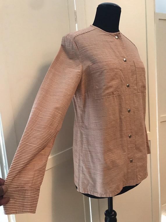 Vuokko Vintage 70s Shirt /Tunic / Stripes / Pocke… - image 5