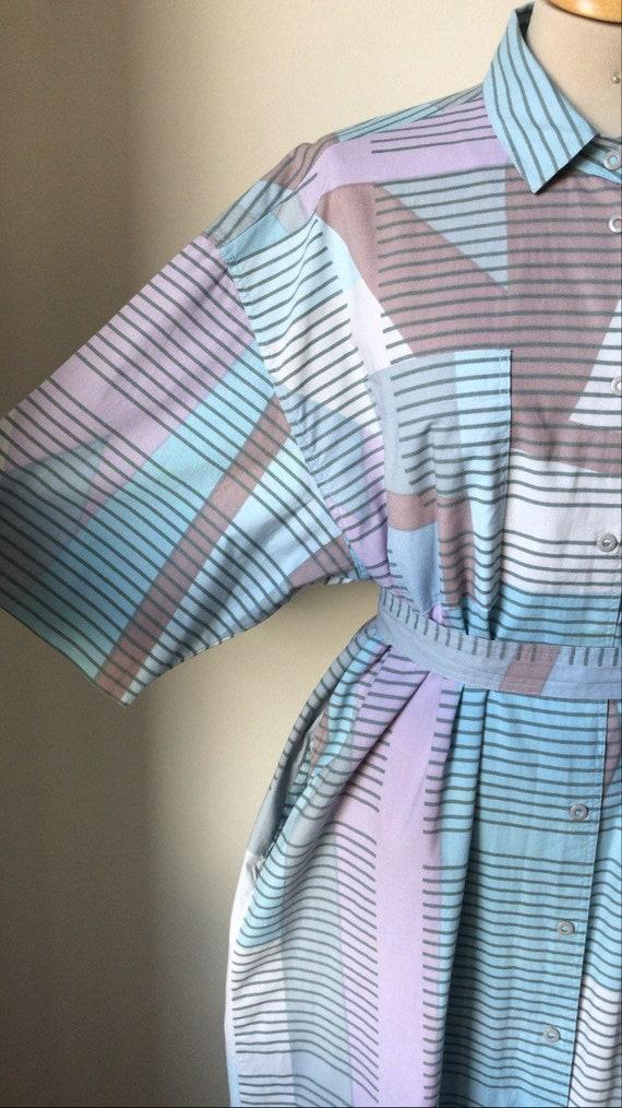 Vintage 80's Marimekko Shirtwaister Midi dress / A