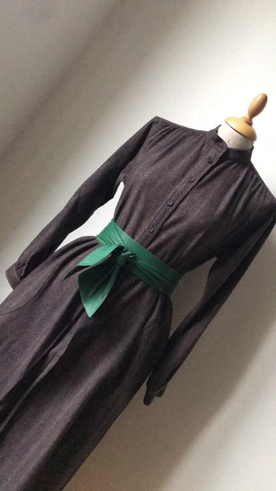 Vintage YSL Wool Smock Shift dress / 70's 80's Str