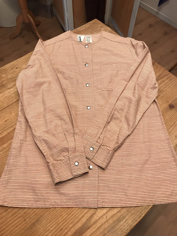 Vuokko Vintage 70s Shirt /Tunic / Stripes / Pocke… - image 7