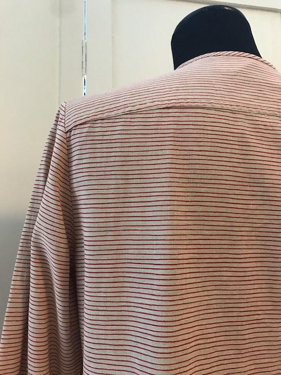 Vuokko Vintage 70s Shirt /Tunic / Stripes / Pocke… - image 6