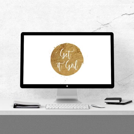 Desktop Background Get It Girl Quote Affirmation Goals Entrepreneur Motivation Computer Wallpaper Quote Background Goal Digger