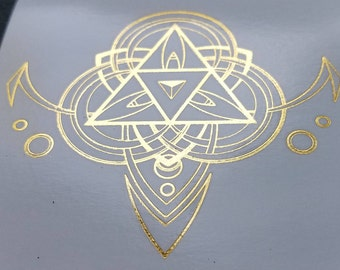 "METALLIC Temporary Geometric Tattoo 4""x4"""