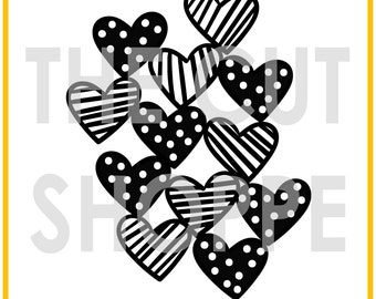 The Hello Hearts cut file is a background design, that can be used for your scrapbooking and papercrafting projects.