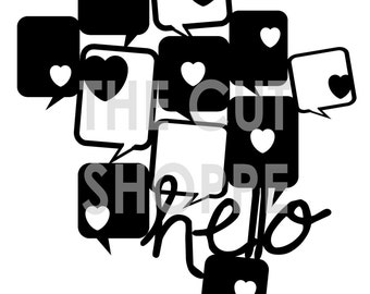 The Hello Let's Chat cut file, is a fun image of welded talk bubbles, that can be used on your scrapbooking and papercrafting projects.