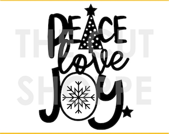 The Peace & Joy cut file is a Christmas themed image, that can be used for your scrapbooking and papercrafting projects.