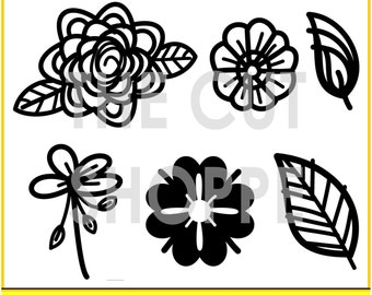 The Funky Florals cut file includes 4 flower themed icons, that can be used for your scrapbooking and papercrafting projects.