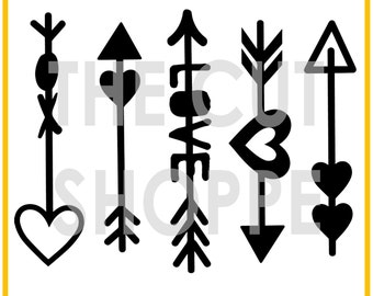 The Cupid's Arrows cut file set includes 5 arrow designs, that can be used on your scrapbooking and papercrafting projects.