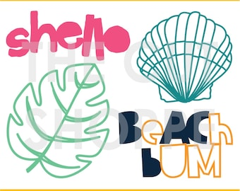 The Beach Bum cut file can be used for your scrapbooking and papercrafting projects.