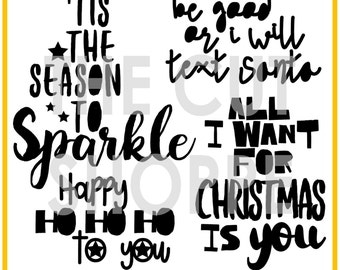 The 'Tis the Season cut file includes 4 Christmas themed phrases, that can be used for your scrapbooking and papercrafting projects.