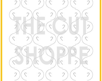 The Sassy Circles cut file is a cut & fold design, that is available in 8.5x11 and 12x12 sizes.