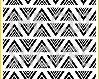 The Chevron in a Triangle background cut file is available in 8.5x11 and 12x12 sizes, for your scrapbooking and papercrafting projects.