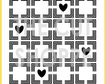 The Squared Away background cut file is available in 8.5x11 and 12x12 sizes, for your scrapbooking and papercrafting projects.