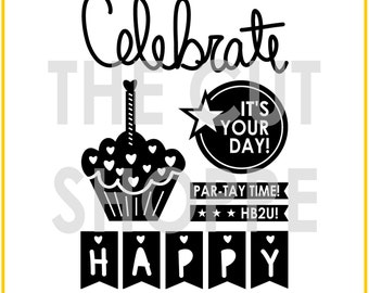 The It's My Party cut file consists of 6 party themed icons, that can be used for your scrapbooking and papercrafting projects.