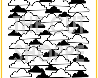 The Cloud Nine background cut file is available in 8.5x11 and 12x12 sizes, for your scrapbooking and papercrafting projects.