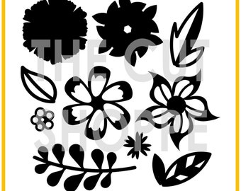 The Flower Delivery cut file includes 10 floral designs that you can mix and match on your scrapbooking and papercrafting projects.