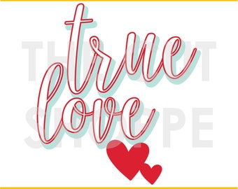 The True Love cut file can be used for your scrapbooking and papercrafting projects.
