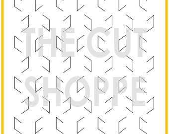 The Cheeky Chevron cut file is a cut and fold design, that can be used on your scrapbooking and papercrafting projects.