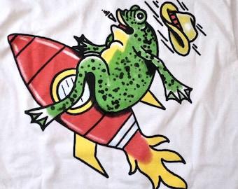 Greg Rosenfeld Rocket Frog Tee