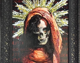 Collaborative painting by Damien Echols and Michael Bellamy. Signed Prints & Original for sale.