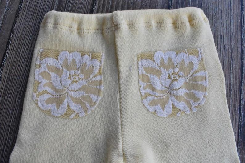 pale yellow pants tieback set Newborn girl photo props baby gift, girl pants set baby props baby girl tieback set