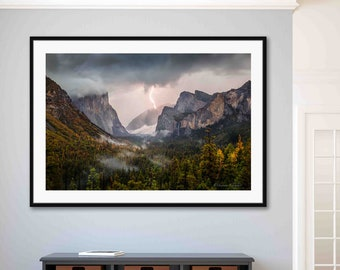 Original Artwork Natural Scenery Ready to Hang Mount Shasta Large Framed Wall Art for Home and Office Decoration Photographic Art Print with Black Frame 16 x 20 inches