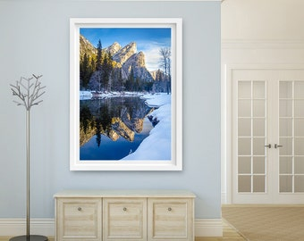 Set Of Three 3 Canvas Prints Yosemite Photo On Canvas Gift Etsy