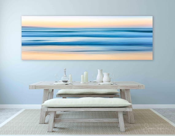large ocean abstract print panorama beach decor monterey etsy