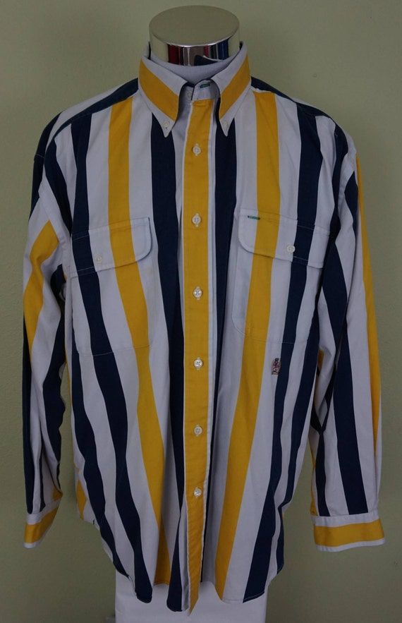 Tommy Hilfiger Long Sleeve Blue white stripe Button Down