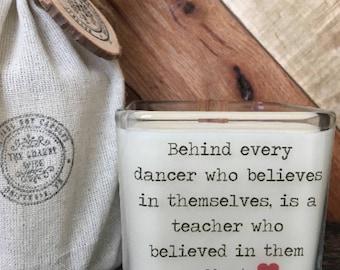 Dance Teacher Gift  * Dance Teacher Candle *Dance Recital Gift * Gifts For Teacher * Dance Candle * Dance Coach * Ballet Teacher Gift