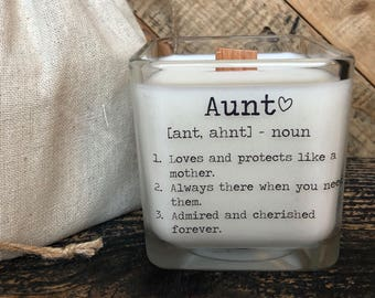 Aunt Gift Best For Candle With Message Birthday Gifts Definition