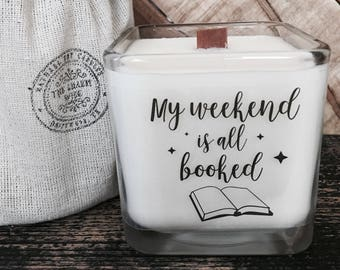 my weekend is booked candle
