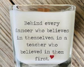Dance Teacher Gift, Dance Teacher Candle, Dance Recital Gift, Gifts For Teacher, Dance Candle, Dance Coach, Ballet Teacher Gift Personalized