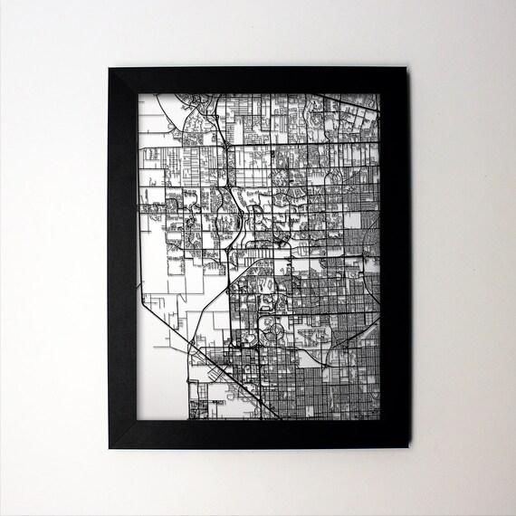 Map Of Miramar Florida.Miramar Map Laser Cut Map Miramar Fl Miramar Art Etsy